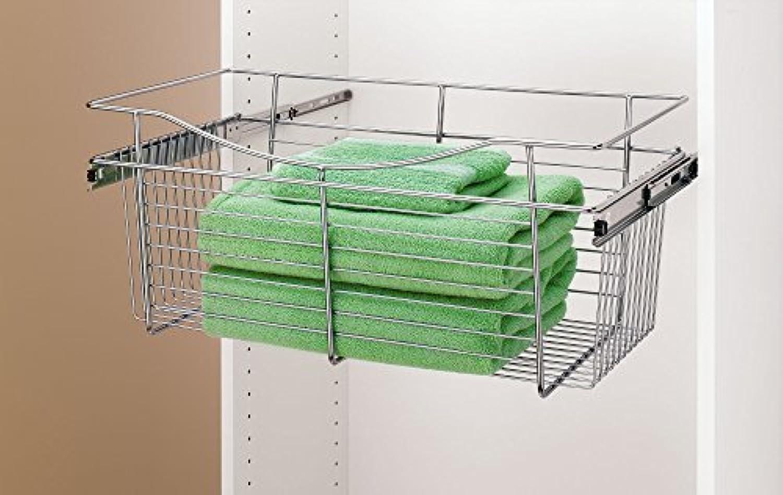 Rev-A-Shelf - CB-241407CR-1 - Chrome Closet Pull-Out Basket by Rev-A-Shelf