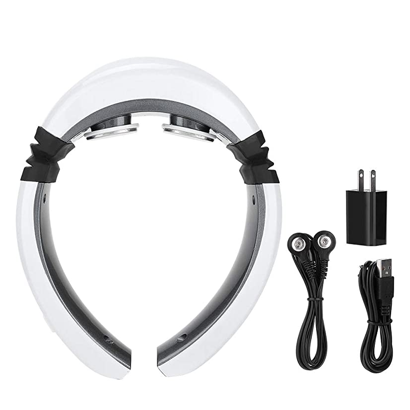 首マッサージャーUSB電気パルス鍼ヘルプ首マッサージャーヘルスケア頸部ヘルプパッチマッサージ