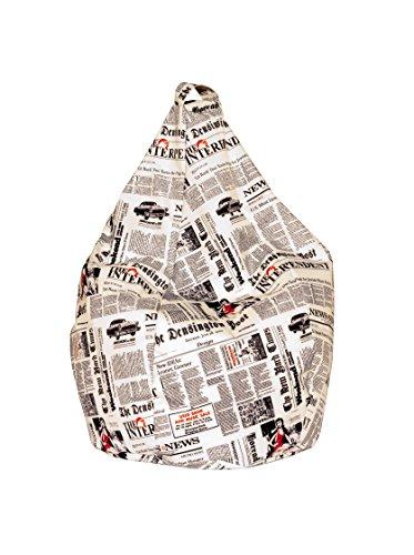 13Casa - Newspaper A1 - Poltrona sacco. Dim: 70x70x110 h cm. Col: Fantasia. Mat: Nylon.