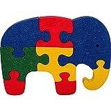 Puzzles éléphant. Puzzle 3D en bois 1OO % naturels. Fabriqué en Europe. Hêtre massif