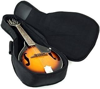 Hola! Heavy Duty A & F Style Mandolin Gig Bag (Soft Case) with 15mm Padding, Black