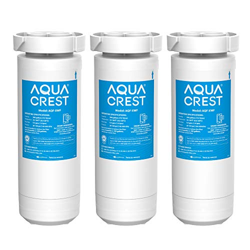 AQUACREST NSF Certified XWF Refrigerator Water Filter, Compatible with GE XWF, GE Refrigerator Models Starting with GBE21, GDE21, GDE25, GFE24, GFE26, GNE21, Pack of 3 (Packaging may vary)