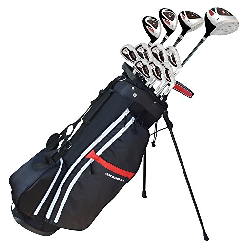 Prosimmon Golf X9 V2 Tall +1' Mens Graphite/Steel Golf Club Set & Bag -...