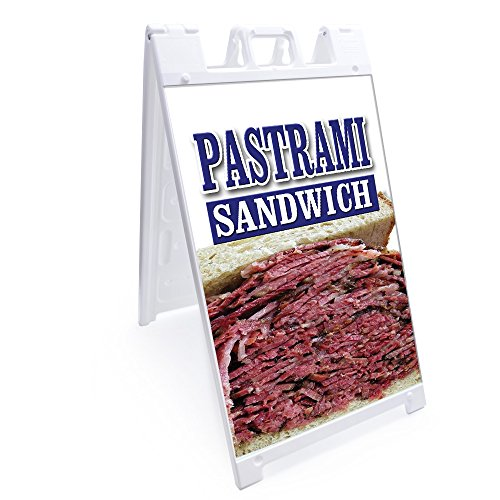 A-Frame Pastrami Sandwich Sign with Graphics On Each Side | 24