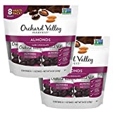 ORCHARD VALLEY HARVEST Dark ChocolateAlmonds, 8 ct Multi Pack, Bundle of 2, Non-GMO, No Artificial Ingredients