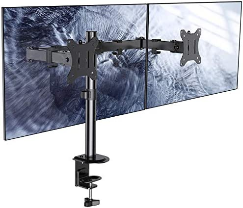 ATUMTEK Dual Monitor Desk Mount Stand Full Motion LCD Monitor Arm Fits 2 Computer Screens Up product image