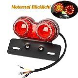 4in1 40 LED Motorrad Rücklicht E11 Geprüft Bremslicht Nummernschild Heckleuchte Leuchten Blinker...