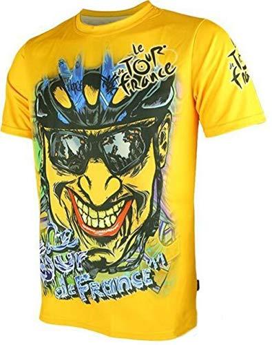 AMINIY Heiße Verkaufende Tour Der France Hochwertiger Bunt Radtrikot Nur Sportbekleidung Aus Schönen Materialien Einiger Größen Hergestellt (Color : Yellow, Size : M)