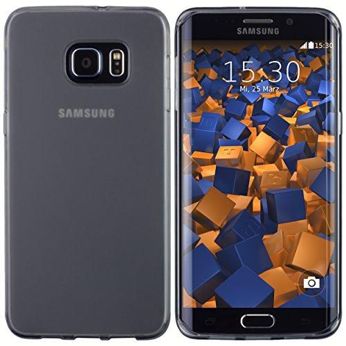 mumbi Funda compatible con Samsung Galaxy S6 Edge Plus Caja del teléfono móvil, negro transparente