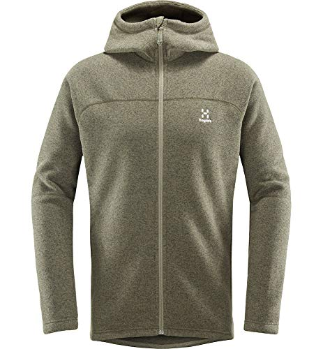 Haglöfs Fleecejacke Herren Fleecejacke Swook Hood Wärmend, Atmungsaktiv, Elastisch Deep Woods XL XL - Empty for carryovers -