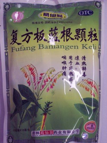 Banlangen TEA , Fufang Banlangen Keli , 15 Individual Sachets - 4 Pak