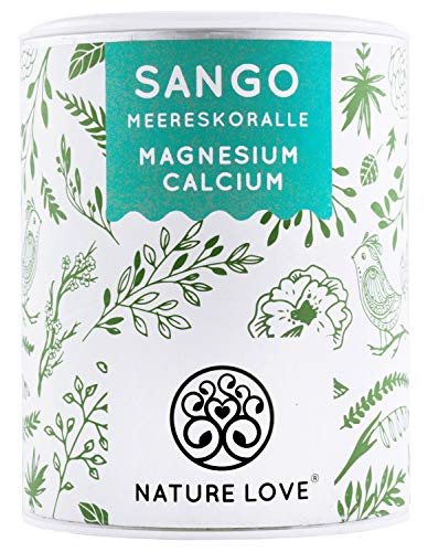 NATURE LOVE® Sango Meereskoralle - 250g Pulver. Natürliche Quelle für Kalzium (20%) und Magnesium (10%) im körpereigenen Verhältnis von 2:1. Hochdosiert und in Deutschland produziert