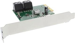 InLine 76617D Schnittstellenkarte, 4x SATA 6Gb/s, mit 4x SATA, RAID 0,1,10,JBOD, PCIe 2.0 (PCI Express)