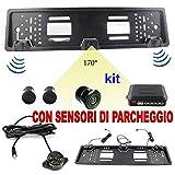 Portamatrículas DVR con cámara trasera y sensores de aparcamiento 170° coche CW237