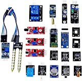 OSOYOO 20 in 1 Ultimate Sensor Kit for R3 Mega2560 Nano Raspberry Pi DIY Learning Package with On-line Instructions for Each Module