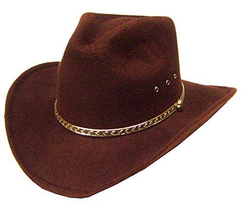 Modestone Unisex Aussie Faux Felt Chapeaux Cowboy m