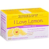 Bigelow I Love Lemon with Vitamin C Herbal Tea Bags, 20 Count Box (Pack of 6) Caffeine Free Herbal Tea, 120 Tea Bags Total