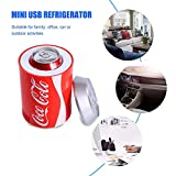 rosemaryrose USB Kühlschrank Getränkekühler Coca Cola Kühlschrank -Mini-USB-Kühlschrank - Auto...