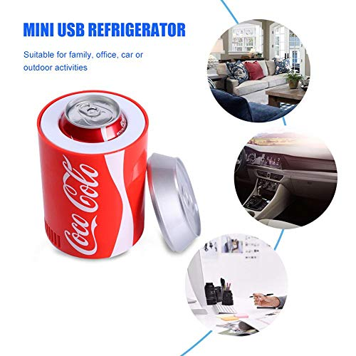 rosemaryrose USB Kühlschrank Getränkekühler Coca Cola Kühlschrank -Mini-USB-Kühlschrank - Auto Office Dual-Use-Kühlschrank