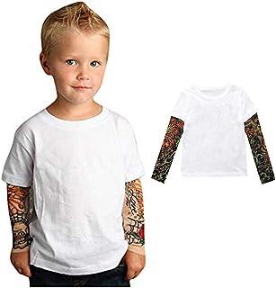 Yying B/éb/é Gar/çon Fille Tatouage Imprim/é /À Manches Longues Patchwork Coton B/éb/é Barboteuses Nouveau-N/é Combinaison Toddler Stitch Costume