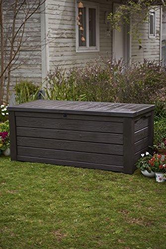 Keter Westwood 150 Gallon Resin Large Deck Box, Brown