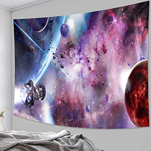 Tapiz de ciencia ficción planeta decoración del hogar Mandala escena tapiz cojín bohemio sofá manta estera de yoga 150x200cm