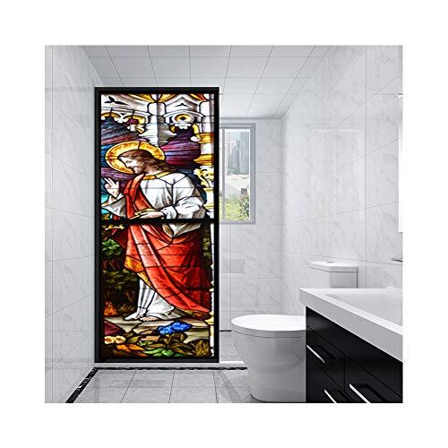 ZKAMANG Christian Sonnenschutz Fenster Film, Farbige Glasaufkleber, Fenster Aufkleber Schattierung, Sonnenschutzglas Folie Für Wohnzimmer 60X 150 cm K165