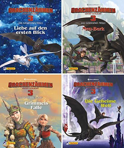 Nelson Mini-Bücher: 4er Drachenzähmen leicht gemacht 3 1-4