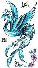 GRASHINE Tattoo sticker female waterproof blue phoenix pattern peony