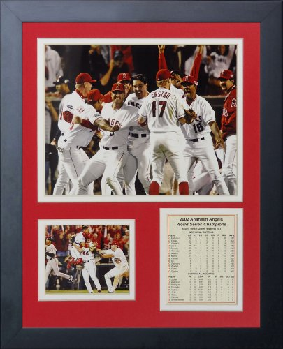"2002 Los Angeles Angels of Anaheim Champions 11"" x 14"" Framed Photo Collage by Legends Never Die, Inc."