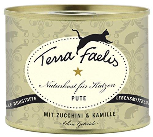 Terra Faelis Cat Nassfutter Dose 200 g 12 x 200g Pute mit Zucchini & Kamille