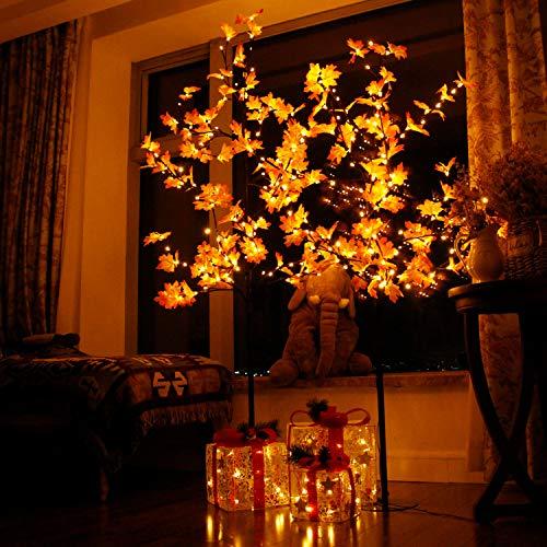 CCLIFE LED Ahorn Baum 150 180 cm innen Außen Weihnachten Christbaum Lichterbaum warmweiss Kaltweiß Weihnachtsbeleuchtung, Farbe:150cm mit 120 LEDs