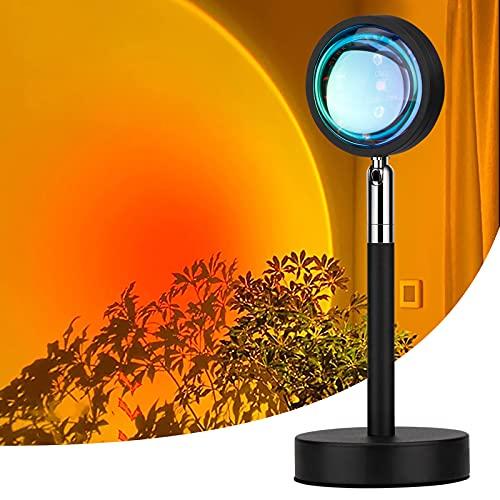 サンセットライト LEDテーブルランプ 夕焼けライト USB給電ポート搭載 給電簡単 高輝度 多角度調整可能 間接照明 写真撮影ライト 撮影道具 日没再現 部屋インテリア ホームパーティー リビングルーム パーティー 寝室の装飾用 ロマンチックな雰囲気作り