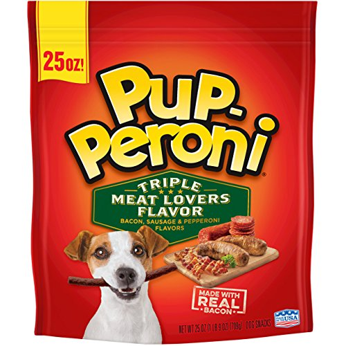 Pup-Peroni Original Triple Meat Lovers Flavor Dog Snacks, 25-Ounce