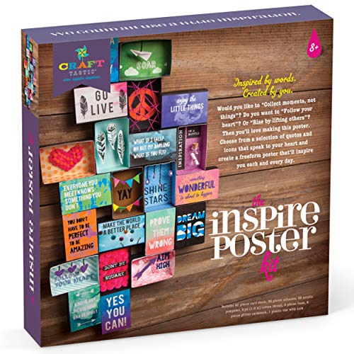Product Image of the Craft-tastic – Inspire Poster Kit – Design a One-of-a-Kind Freeform Poster