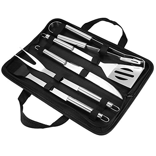 Find Discount Ourleeme Heavy Duty BBQ Grilling Tools Set, Stainless Steel Grilling Utensils Tools wi...