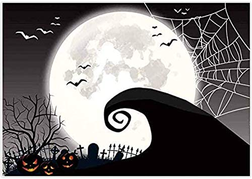 Allenjoy 7x5FT Nightmare Before Christmas Themed Party Decoration Backdrop Halloween Pumpkin Birthday Baby Shower Photography Background Home Decor Photo Studio Booth Props
