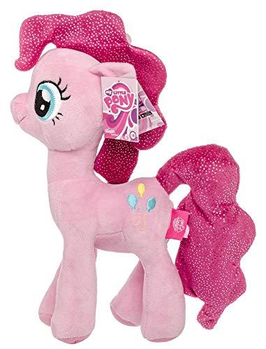 Meine kleinen Ponys My Little Pony Plüschtier Kuscheltiere für Kinder, Mädchen, Glitzermähne Glitzerflügel Pinkie Pie 27 cm (Pink)