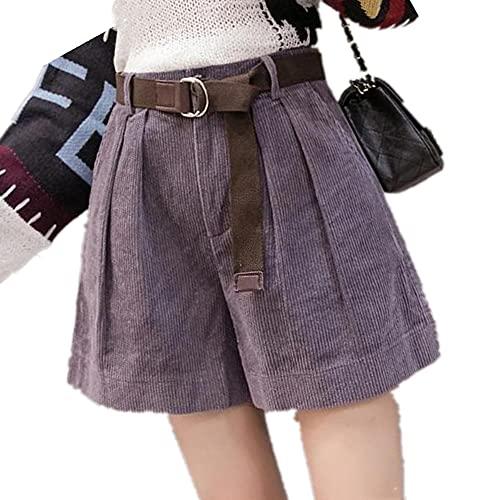 N\P Casual Streetwear Pantalones Cortos de tamaño para Mujeres Cintura Cinturón Señoras