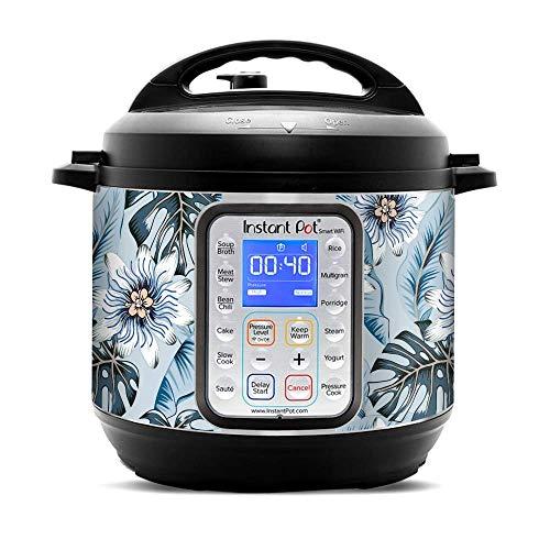 KRAFT'D Wrap for Instant Pot Smart Wifi 6 Quart   Fits InstaPot SmartWifi 6QT   Tropical Flowers Paradise Blue Hue