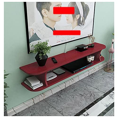 WFENG Mueble para Salón/Mueble TV Suspendido,Mesa de Salón de Estilo Moderno,Con Gabinetes de Almacenamiento Abiertos/D / 80×22×15cm