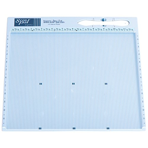 Scor-Pal SP108 Eighths Measuring and Scoring Board, 12' by 12', 1/8' Space Grooves
