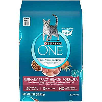 Purina ONE Urinary Tract Health Dry Cat Food, Urinary Tract Health Formula - 22 lb. Bag