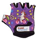 KIDDIMOTO Guantes de Ciclismo sin Dedos para Infantil (niñas y niños) - Bicicleta, MTB, BMX, Carretera, Montaña - Unicornio - Talla: M (5-8 años)