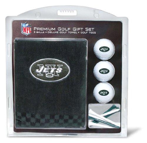 Team Golf NFL New York Jets Gift Set Embroidered Golf Towel, 3 Golf Balls, and 14 Golf Tees 2-3/4