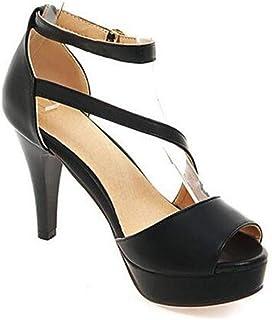 5d168af6 Sandalias con Tacon Alto para Mujer Plataforma Zapatos de Vestir de Fiesta  con Punta Abierta para