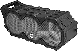Altec Lansing IMW888-BLG Super Lifejacket Rugged Waterproof Bluetooth Speaker, Water Resistant, Multiple Pairing of Speakers, Built-in Lithium Battery, Aluminum Exterior, Black
