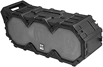 Altec Lansing IMW888-BLG Super Lifejacket Rugged Waterproof Bluetooth Speaker, Water Resistant, Multiple Pairing of Speakers, Built-in Lithium Battery, Aluminum Exterior, Black
