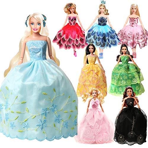 バービー ドレス ワンピース プリンセスドレス リカちゃん用 11.5インチドール用 舞踏会のフェアリー8点セット