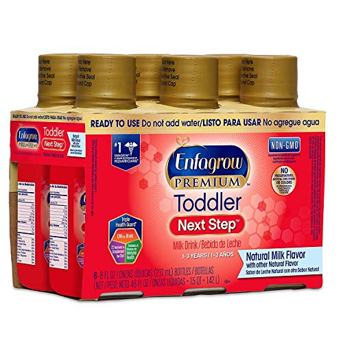 Enfagrow PREMIUM Toddler Next Step, Natural Milk Flavor - Ready to Use Liquid, 8 fl oz, (6 count)